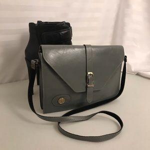 Vintage Soft Grey Leather Purse